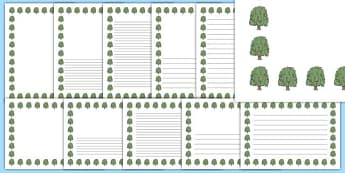 Willow Tree Themed Page Borders - willow tree, themed, page borders, pack, page, borders