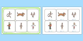 Matching Cards and Board to Support Teaching on Stick Man - stick man, stick man picture matching game, stick man image board matching, stick man matching activity, sen activity