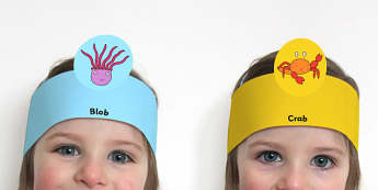 Role Play Headband to Support Teaching on Sharing a Shell - roleplay, props, stories