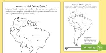 Ficha de actividad:  El mapa de Brasil   - carnaval, mardi gras, carnestolendas, tradiciones, cuaresma, packs de planificación, Brasil, mapa,