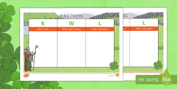 Saint Patrick KWL Grid-Irish - ROI - St. Patrick's Day Resources. Saint Patrick, Ireland, Irish Saints,Irish,  Early People and An