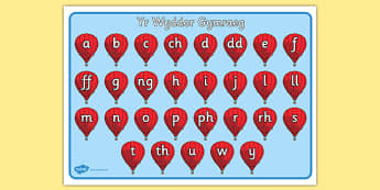 My Alphabet Mat (Welsh) - alphabet mat, Welsh letters, Welsh alphabet, alphabet, writing aid,cymru