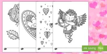 Colorear para relajarse: Día de San Valentín - San Valentín, colorear, relajarse, colorear para relajarse, enamorados, día de los enamorados, col