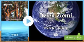 Prezentacja PowerPoint Wyrazy i obrazki Dzień Ziemi - ziemia, ziemi, dzień, planeta, kwiecień, kwietnia, światowy, 22.04, międzynarodowy, sprzątanie,