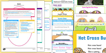 Childminder Easter Activity Web and Resource Pack - easter, childminder, activity web, resource pack