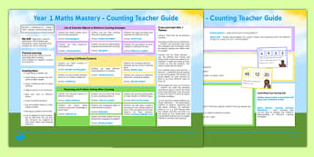 Year 1 Maths Mastery Counting Teaching Ideas
