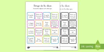 Bingo: Bienvenidos a la clase nueva - bienvenidos a la clase nueva, clase, vuelta al cole, colegio, vuelta, curso nuevo, curso, bingo, jue