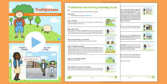 Truthfulness and Honesty Assembly Pack - lying, lie, truth, true, PSHCE, Behaviour