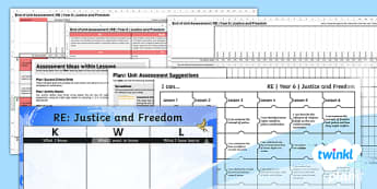 PlanIt - RE Year 6 - Justice and Freedom Unit Assessment Pack