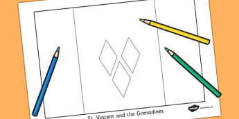 St Vincent and the Grenadines Flag Colouring Sheet - countries