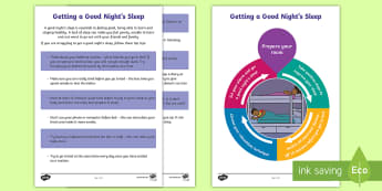 Getting a Good Night's Sleep Guide - Young People & Families Case File Recording, referral, chronology, contents page,buddy system, safeg