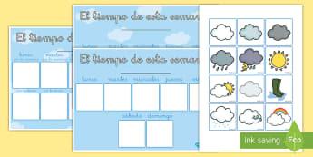 Calendario de exposición: El tiempo de esta semana - tiempo, semana, semanal, el tiempo, sol, nubes, lunes, martes, miércoles, jueves, viernes, sábado,