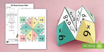 6 Times Table Fortune Teller - 6 times table, times table, times tables, fortune teller, activity, craft, fold