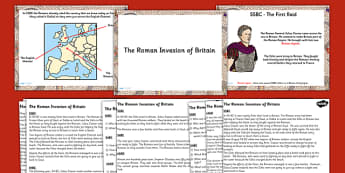 The Roman Invasion of Britain Lesson Teaching Pack PowerPoint