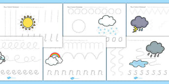 Winter Pencil Control Worksheets - fine motor skills, seasons
