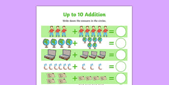 Flat Boy Up to 10 Addition Sheet - flat stanley, flat boy, jeff brown, addition