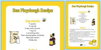 Bee Playdough Recipe -yellow, black, bee, wasp, pipe cleaner, googly eyes