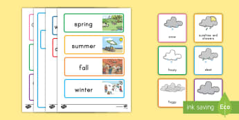 Weather and Season Display Calendar - weather, season, calendar, display,