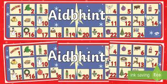 Féilire Aidbhinte Display Banner Gaeilge