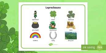 Leprechaun Word Mat - ROI - St. Patrick's Day Resources, St. Patrick's Day, Paddy's Day, Leprechaun, writing, free writ