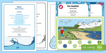 Water Quiet Time Box - EYFS Water, water cycle, rain, rivers, sea, oceans, tabletop activities