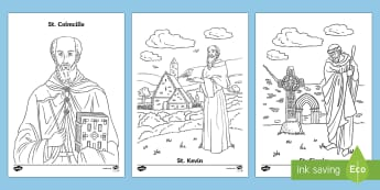 Irish Saints Colouring Pages - Ireland, The Land of Saints and Scholars,early christian Ireland,Irish saints, monastic Ireland, St