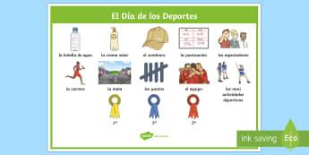 Sports Day Word Mat-Spanish - Spanish, KS2, sports, day, word, mat ,Spanish