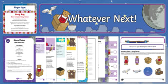 Childminder EYFS Resource Pack to Support Teaching on Whatever Next! - Whatever Next, Jill Murphy, space, moon, teddy bear, owl, childminding, child minder