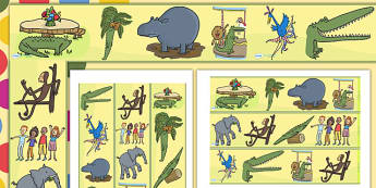 Display Borders to Support Teaching on The Enormous Crocodile - the enormous crocodile display borders, the enormous crocodile, display borders, roald dahl display borders