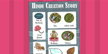 Hindu Creation Story Vocabulary Poster - hinduism, religion, RE