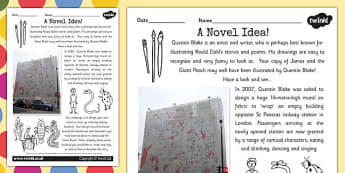Quentin Blake Roald Dahl Inspired Art Activity - artists, stories