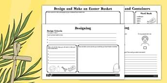 Design and Make an Easter Basket Booklet - designing, bonnets