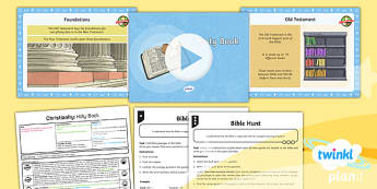 PlanIt - RE Year 4 - Christianity - Lesson 5: Holy Book Lesson Pack