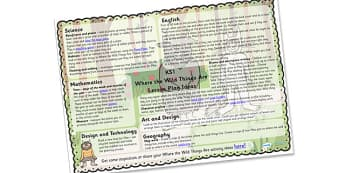 Lesson Plan Ideas KS1 to Support Teaching on Where the Wild Things Are - where the wild things are, where the wild things are lesson plan, where the wild things are lesson ideas