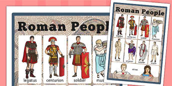 Roman People Vocabulary Mat - literacy, mats, visual, romans