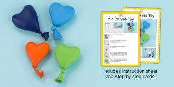 Mini Stress Toy Craft Instructions - EYFS, KS1, craft, feelings and emotions, stress, anxiety, calm