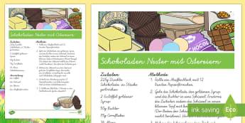 Schokoladen Nester mit Ostereiern Rezept - Ostern, Backen, Rezept, Schokolade, Ostereier, German
