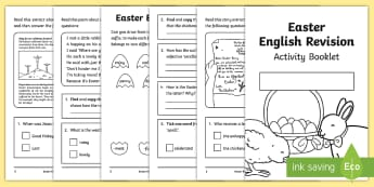 SATs Survival Year 2: Easter English Revision Activity Booklet - SATs Survival Materials Year 2, SATs, assessment, 2017, English, SPaG, GPS, grammar, punctuation, sp