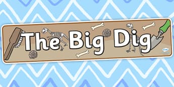 The Big Dig Display Banner - dig, digging, the big dig, banner
