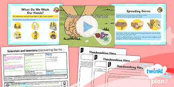 PlanIt - Science Year 2 - Scientists and Inventors Lesson 3: Discovering Germs Lesson Pack - Louis Pasteur, germs, microorganisms, handwashing, hygiene