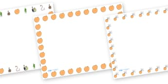 Page Borders to Support Teaching on James and the Giant Peach - page borders, james and the giant peach, giant peach page borders, story book, writing frames, lined pages