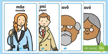 A minha família, cartazes - familia, lacos familiares, arvore genealogica, genes, genetica, adocao, adotivo, vocabulario, amigos