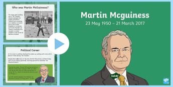 Martin McGuiness PowerPoint - Martin McGuiness, The Troubles, Good Friday Agreement, Northern Ireland