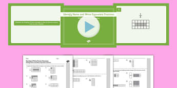 KS2 Reasoning Test Practice Identify Name and Write Equivalent Fractions Resource Pack - Key Stage 2, Reasoning Test, Practice, Fractions, Decimals, Percentages, Year 6, Equivalent