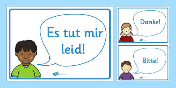 Golden Manners Words Display Posters German - german, Good manners, please, thank you, polite, excuse me, pardon, vocabulary, display, poster