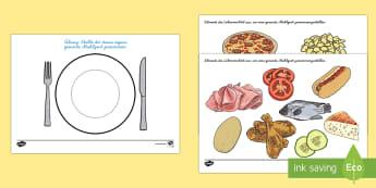 Healthy Eating Meal Activity German - german, healthy, healthy eating, sort, activity, fruit, game, vegetable, healthy food, how to eat healthy, food, sorting