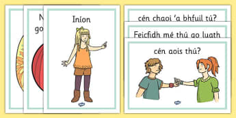 Year 3 Getting to Know You Display Posters Gaeilge - gaeilge, irish, getting to know you, display posters, display, posters, know