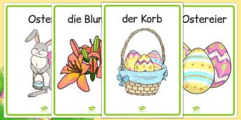 Easter Display Posters German - german, easter, display posters, easter display