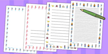 Aladdin Page Borders - aladdin, borders, writing, templates