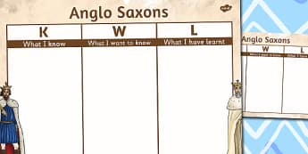 Anglo Saxons Topic KWL Grid - anglo-saxons, topic, kwl, grid